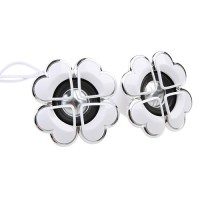 Flower Shape Mini Digital Speaker 3.5mm Audio Port