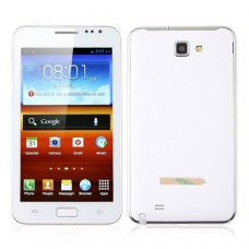 N7000+ Smart Phone Android 4.0 OS 3G TV GPS 5.2 Inch Multi-touch Screen-White