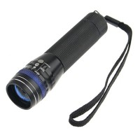 S501 CREE Q5 LED 200 Lumen Zoom Flashlight Torch 3-Mode 1xAA Battery