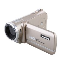 Max 12.0 Mega Pixels 3.0 Inch TFT Screen HD 720P Digital Video Camcorder HD-888-Golden