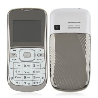 K888 Phone Dual Band Dual SIM Card Running LED FM Bluetooth Camera- White