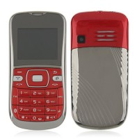 K888 Phone Dual Band Dual SIM Card Running LED FM Bluetooth Camera- Red