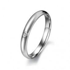 Fashion Rhinestone Titanium Steel Ring Jewelry 5/67/8
