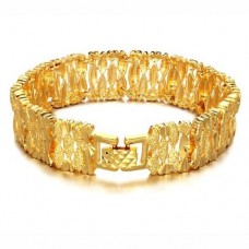 Fashion 18K Gold Plate Wide Bracelet Bangle Jewelry