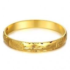 Fashion 18K Gold Plate Wide Bracelet Bangle Jewelry
