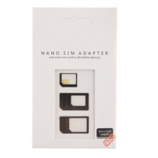 Nano SIM Adapter Kit for iPhone 5/4/4S Black