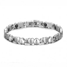 Fashion Hearts Style Titanium Steel Bracelet Bangle Jewelry