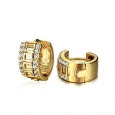 Fashion Rhinestone Decor 18K Gold Plate Earring