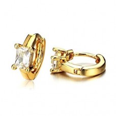 Fashion Crystal Decor 18K Gold Plate Earring