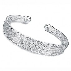 Fashion Miao Silver Cuff Style Bracelet Bangle