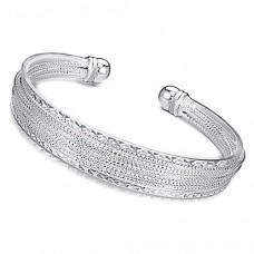 Fashion Miao Silver Cuff Style Bracelet Bangle