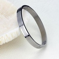 Fashion Dual Hearts Together Titanium Steel Bracelet Bangle
