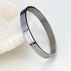 Fashion Dual Hearts Together Titanium Steel Bracelet Bangle