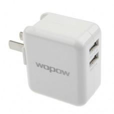 Wopow Dual USB Power Adapter US Plug 100-240V