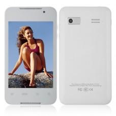 M2 Phone Dual Band Dual SIM Card Dual Camera Bluetooth 4.0 Inch Touch Screen- White