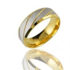 Fashion 316L Titanium Steel Ring Gold 7, 8, 9, 10