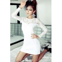 Fashion Round Neck Long Sleeve Slim Dress
