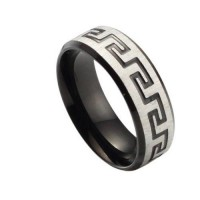 Fashion Black Titanium Steel Ring 7, 8, 9, 10