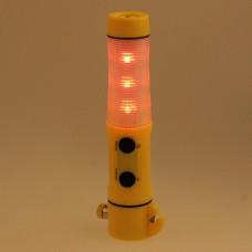 Car Emergency Hammer Cutter Flashlight Red Beacon Light