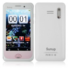 Y222 Phone Dual Band Dual SIM Card Dual Camera FM Bluetooth 3.7 Inch Touch Screen- White