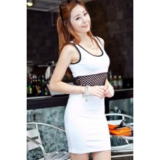 Fashion Round Neck Sleeveless Slim Dress