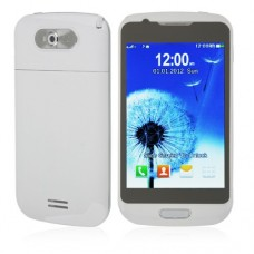 S939 TV Phone Dual Band Dual SIM Card Dual Camera Bluetooth 4.0 Inch Touch Screen- White
