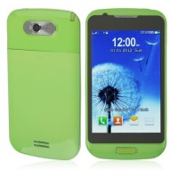 S939 TV Phone Dual Band Dual SIM Card Dual Camera Bluetooth 4.0 Inch Touch Screen- Green