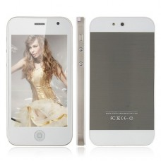 AI5 4.0 Inch Touch Screen Phone Qual Band Dual SIM Card Dual Camera Bluetooth - White