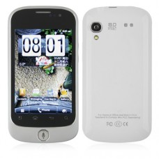 S520 Smart Phone Android 2.3 OS MTK6513 WiFi 3.5 Inch Multi-touch Screen- White