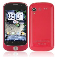 S520 Smart Phone Android 2.3 OS MTK6513 WiFi 3.5 Inch Multi-touch Screen- Red