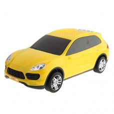 SUOYI SD-988 Portable Digital Music CAR Figure Speaker with TF/USB/FM Radio Yellow