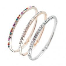 Lady Fashion Glittery Rhinestone Decor Bracelet Jewelry