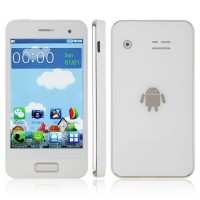S9500 Phone Dual Band Dual SIM Card Dual Camera Bluetooth 3.5 Inch Touch Screen- White