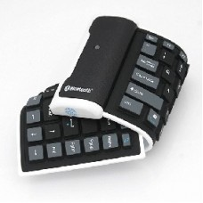 Mini Foldable Bluetooth Keyboard Wireless Silicone Rechargeable 2.4GHz