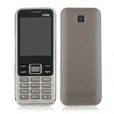 3322+ Quad Band Mobile Phone Dual SIM Card 2.2 Inch Bluetooth Camera - Gray