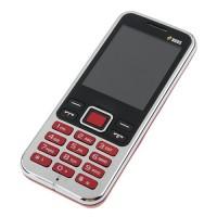 3322+ Quad Band Mobile Phone Dual SIM Card 2.2 Inch Bluetooth Camera - Red
