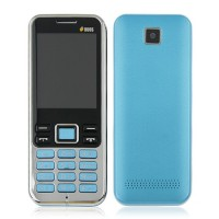 3322+ Quad Band Mobile Phone Dual SIM Card 2.2 Inch Bluetooth Camera - Blue
