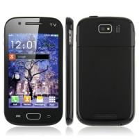 9230 TV Phone Dual Band Dual SIM Card Dual Camera Bluetooth 4.0 Inch Touch Screen- Black