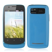 610 Smart Phone Android 2.3 MTK6515 1.0GHz WiFi 3.5 Inch Capacitive Screen- Blue