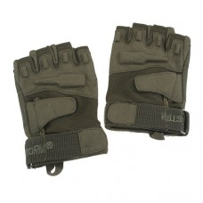Blackhawk Tactical Half-Finger Gloves Leather Palm Army Green Size L