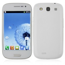 I9300 Smart Phone Android 2.3 MTK6515 1.0GHz WiFi Bluetooth 4.0 Inch- White