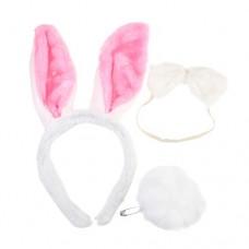 Halloween Costume Cute Rabbit Hair Hoop Tail Bow Tie