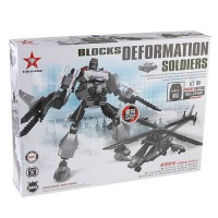 Blocks Deformation Soldiers Mirage Fighter Assembly Model Kit Educational Toy Set