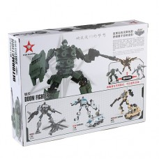 Blocks Deformation Soldiers Doom Fighter Assembly Model Kit Educational Toy Set