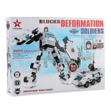 Blocks Deformation Soldiers Blade Warrior Assembly Model Kit Educational Toy Set