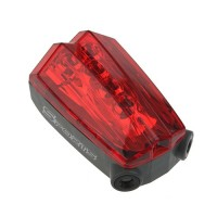 1 Set Bike Safety Light Bicycle Cycling Laser Rear Tail Light Lamp (2 Laser + 5 LED)