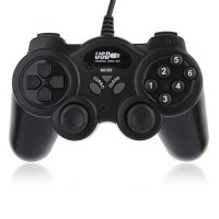 USB Double Shock 2 Game Controller PC Joypad -Black