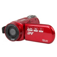 "DV-323 2.7"" TFT 5MP 42X Intelligent Zoom Digital Camcorder - Red"