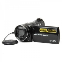 "HDV-5006 3.0"" TFT Screen Max Interpolation 12MP Digital Camcorder W/ 4X Digital Zoom - Black"