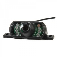 HP-DM320 Car GPS Wired Rear View Camera w/ 7-IR Night Vision (NTSC)- Black
